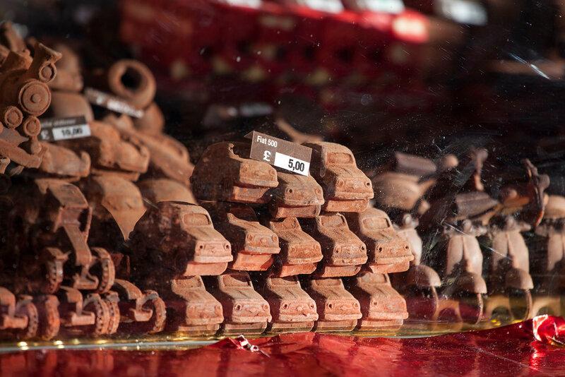 Annual christmas fair.Tools of chocolate