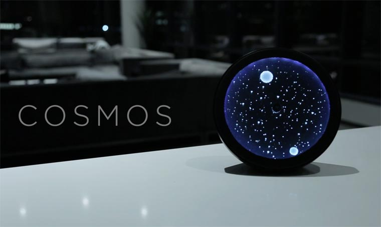 Cosmos Clock - A poetic clock between starry sky and constellations
