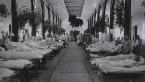 Полевой подвижный госпиталь No. 83. Тифозное отделение