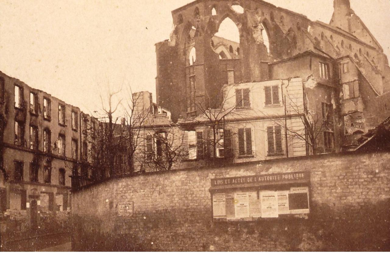 Руины городской библиотеки