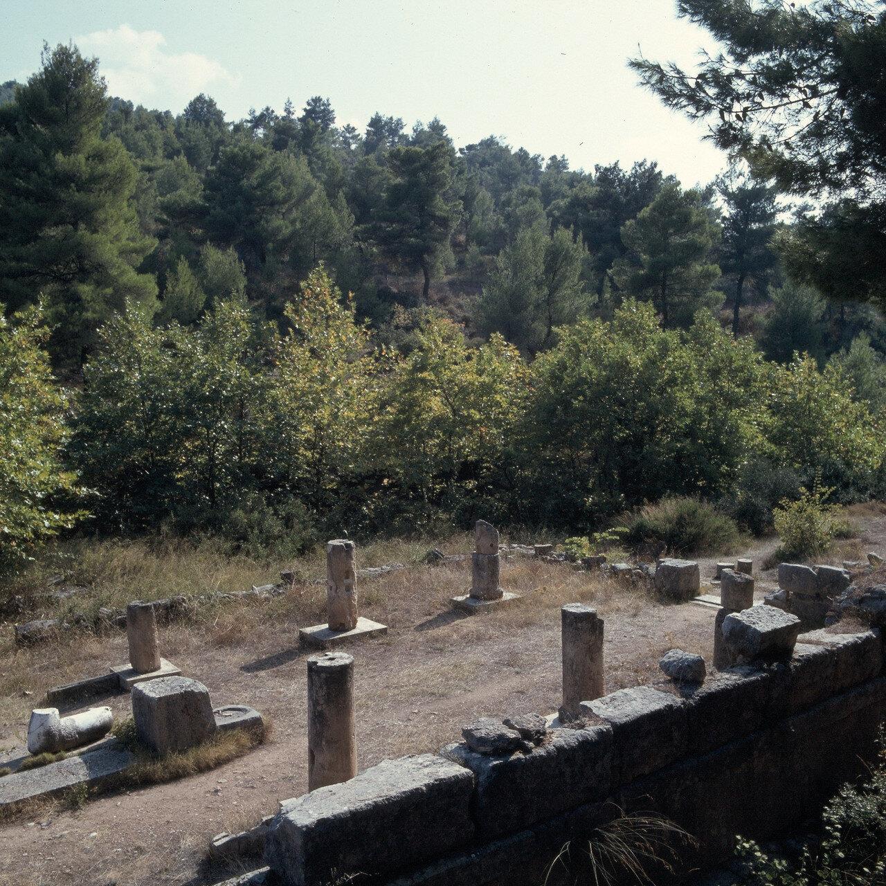 Афины.«Амфиарий». Храм, IV век до н. э. Вид на юг