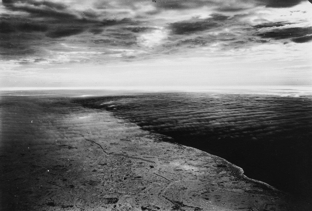 1931. Новая Земля. Вид с воздуха на Северную Землю в Северном Ледовитом океане