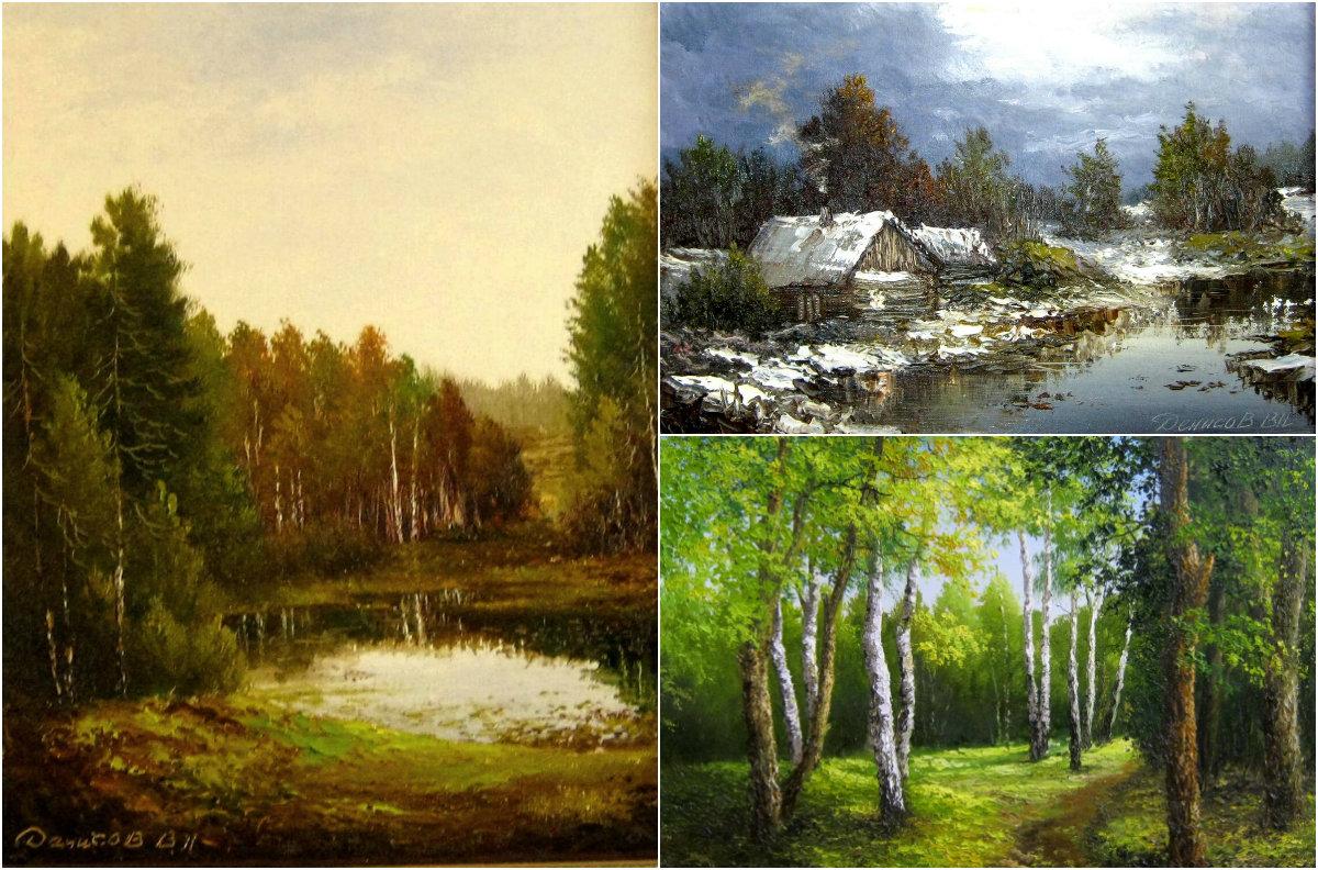 Картины Василия Денисова с русскими пейзажами