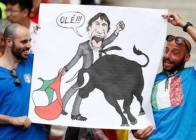 Чемпионат европы. Италия - Испания