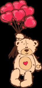 мишки Тэдди с сердечками