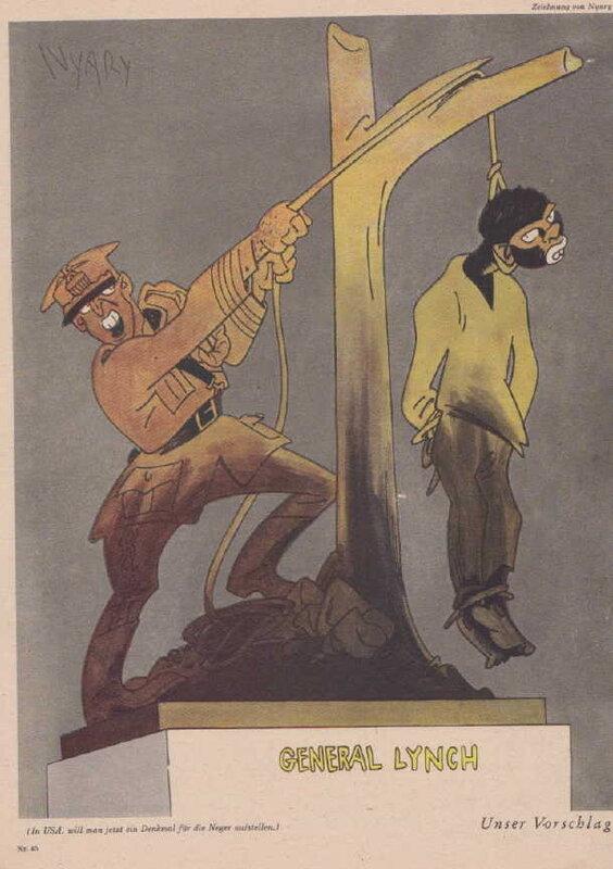 А у вас негров линчуют в исполнении карикатуристов III Рейха