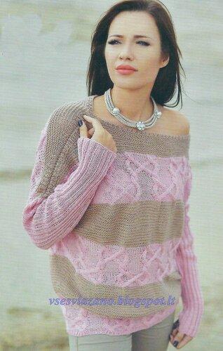 4fd910667132 Тонкий но теплый пуловер-наволочка с аранами и полосами.. Обсуждение ...