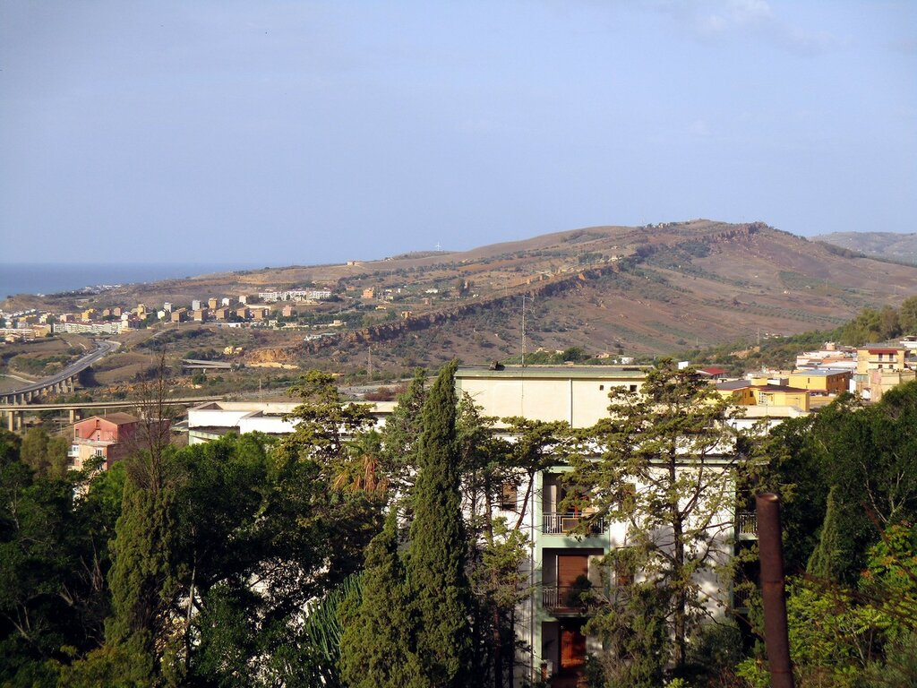 Agrigento. View from the Belvedere Of Villa Bonfiglio)
