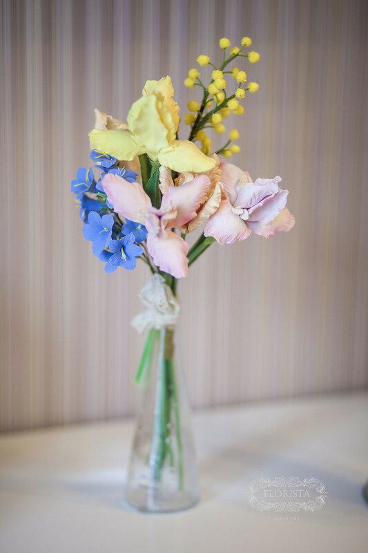 Цветы ручной работы из полимерной глины