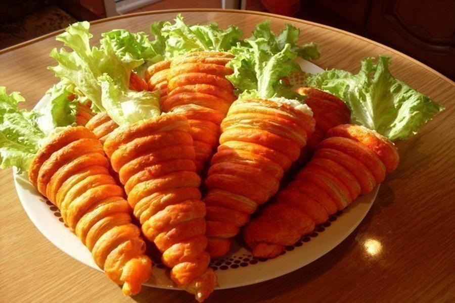Трубочки с начинкой из салата