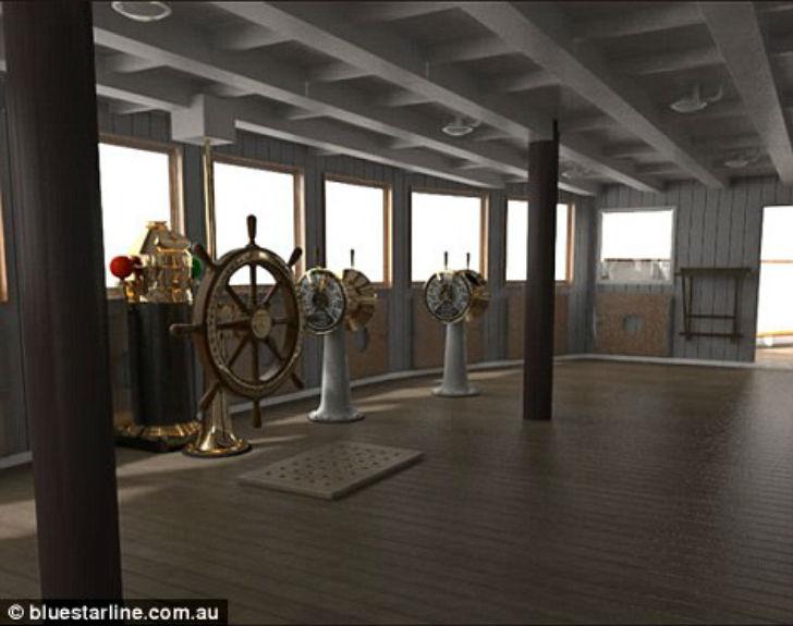 На «Титанике II» будут сохранены некоторые элементы для исторической атмосферы, однако никакого функ
