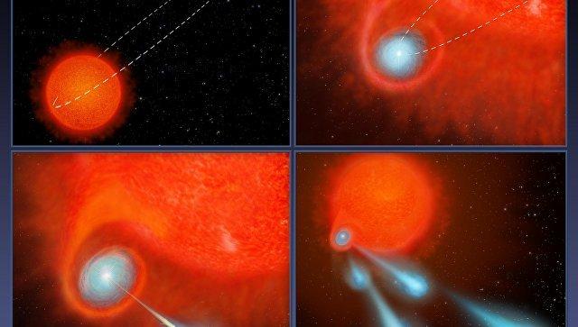 Астрономы обнаружили звезду, стреляющую плазменными сгустками размером спланету