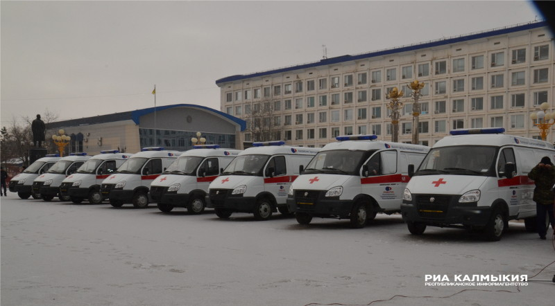 Вмедицинские заведения Калмыкии поступили 15 авто скорой помощи