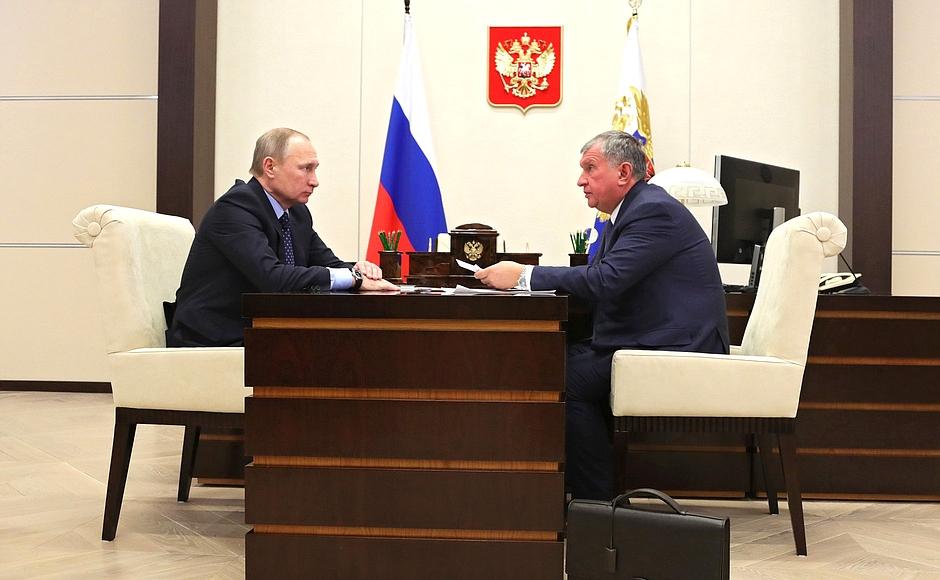 Игорь Сечин сказал президента об результатах работы компании «Роснефть» за2016 год