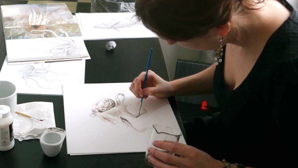 An Octopus Painted With 95-Million-Year-Old Ink
