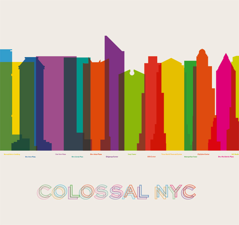 Colorful City Silhouette Prints by Yoni Alter