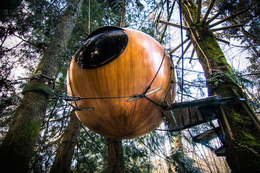 Gorgeous Spherical Tree-House Hotel in Canada