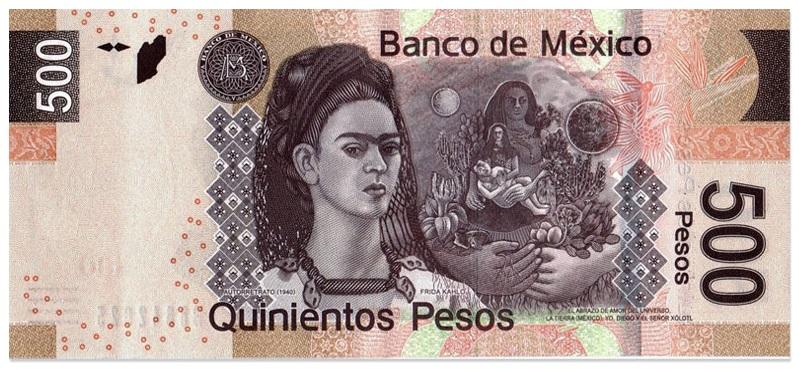 500 песо. Фрида Кало