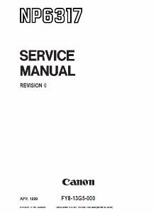 Инструкции (Service Manual, UM, PC) фирмы Canon - Страница 3 0_1b158a_14b578d9_orig