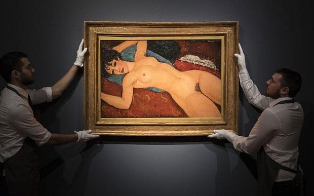 Лежащая обнажённая, Nu Couche (1917-18) Амедео Модильяни 170,4 млн. купил шанхайский миллиардер Лиу Икиан в Нью-Йорке у Кристис, ноябрь 2015(2)
