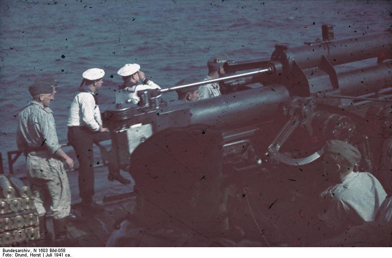 Schwarzes Meer, Siebelfдhre mit 8,8cm Flak