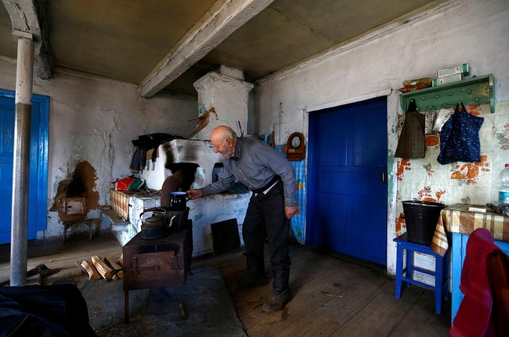 90-летний долгожитель Чернобыльской зоны
