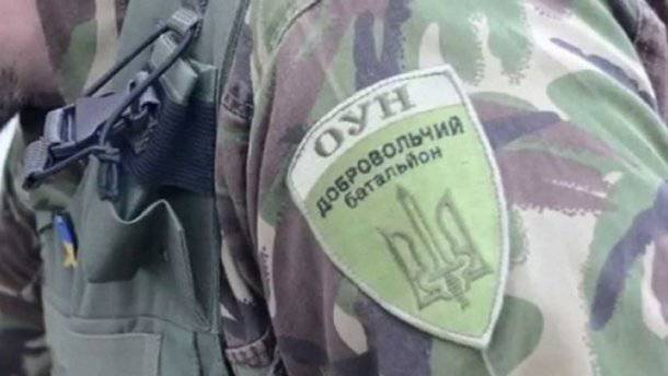 Батальон ОУН снес забор одного из застройщиков на окраине Киева