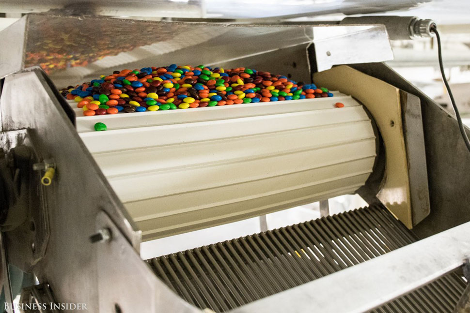Каждый день здесь делаются миллионы конфет M&M's. Фабрика, площадь которой примерно 42,7 тысячи метр