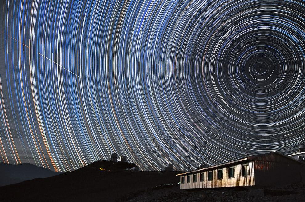 7. Закат в том самом комплексе радиотелескопов, расположенный в чилийской пустыне Атакама. Имее