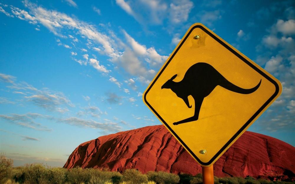 Гора Улуру исамый известный знак Австралии.