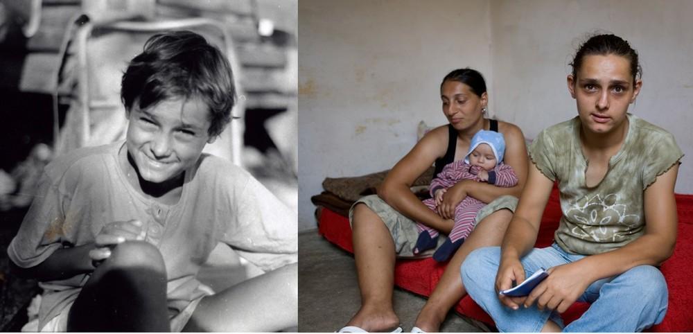 Первый снимок был сделан в 1995 году в приюте села Поприкани, когда Адриане Лике было 12. На втором