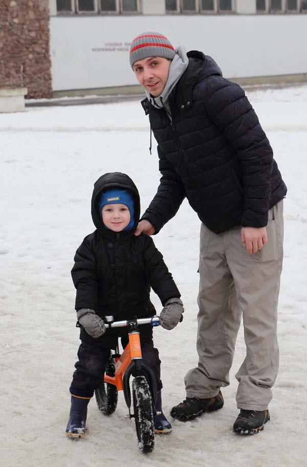 Егор с папой