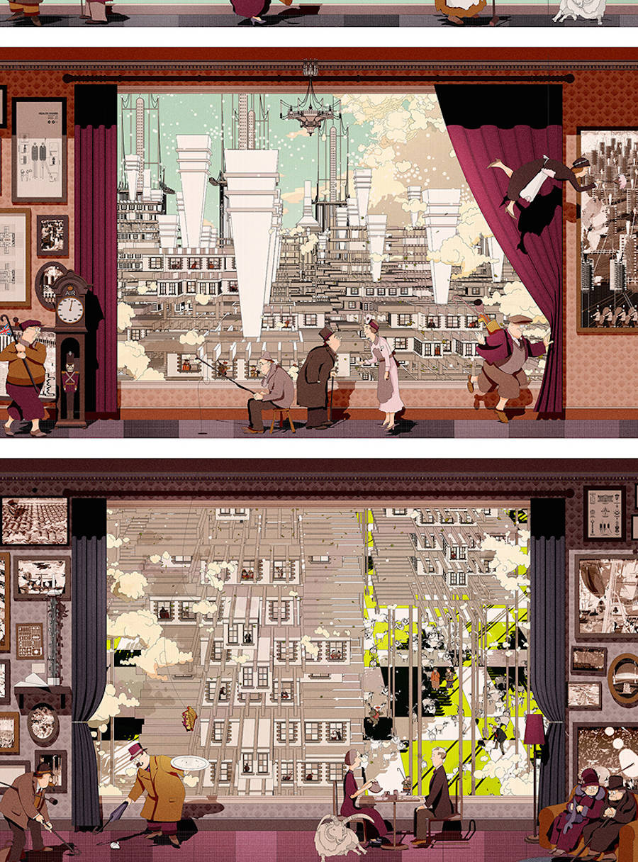 Smart Illustrations For a New Britain by Eric Wong