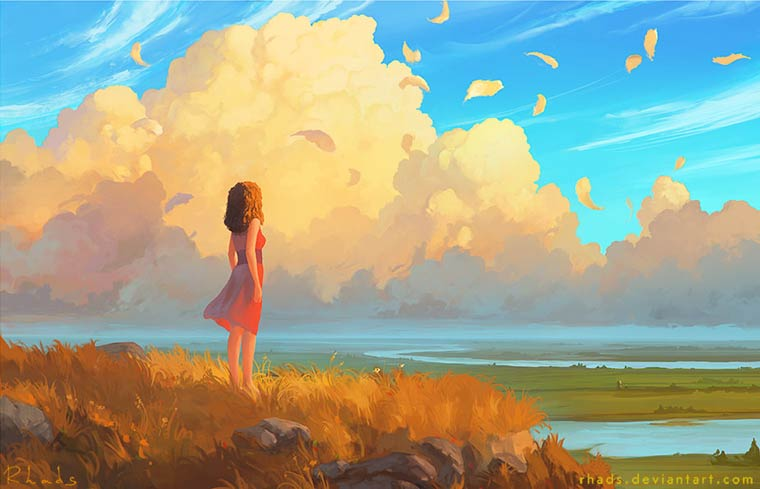 Beautiful World - Les illustrations poetiques et surrealistes de RHADS