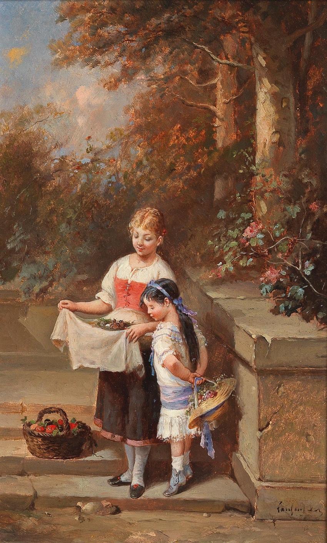 Francois Louis Lanfant de Metz (Sierck 1814-1892 Le Havre) Das Vogelnest