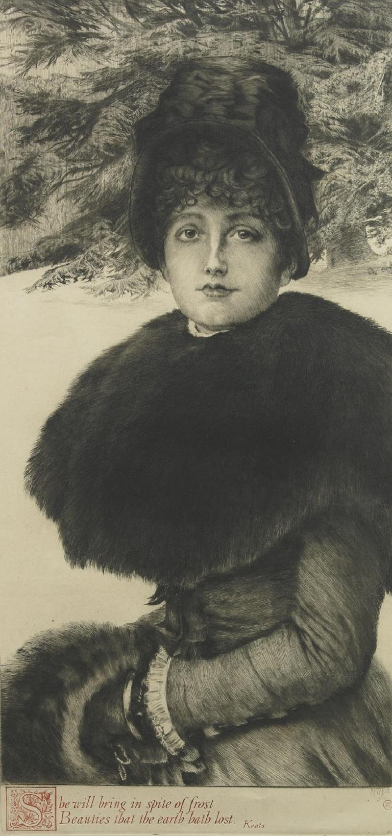 1880 Прогулка по снегу