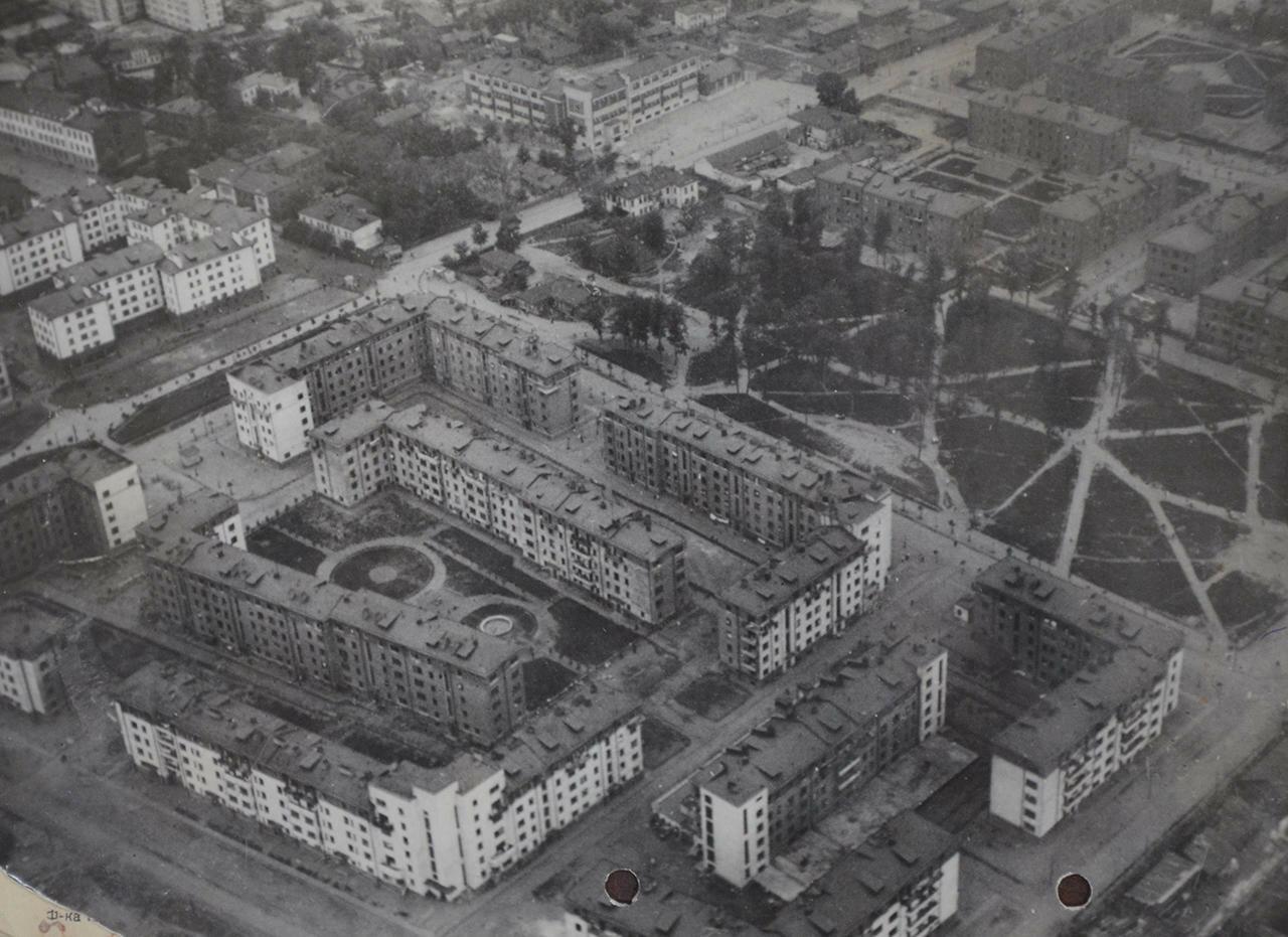 1927. Жилые дома «Усачевки». Аэрофотосъемка