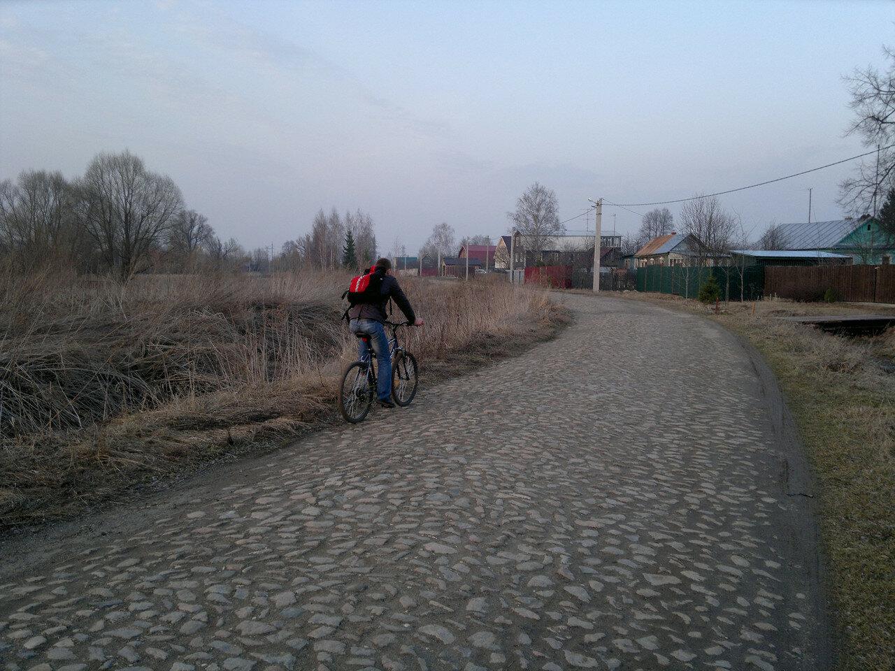старая булыжная дорога