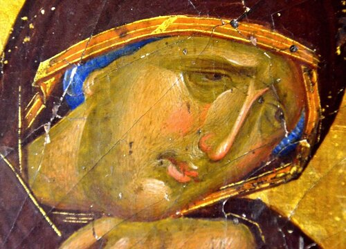 Не рыдай Мене, Мати. Диптих. Византия, XIV век. Метеоры, Греция.
