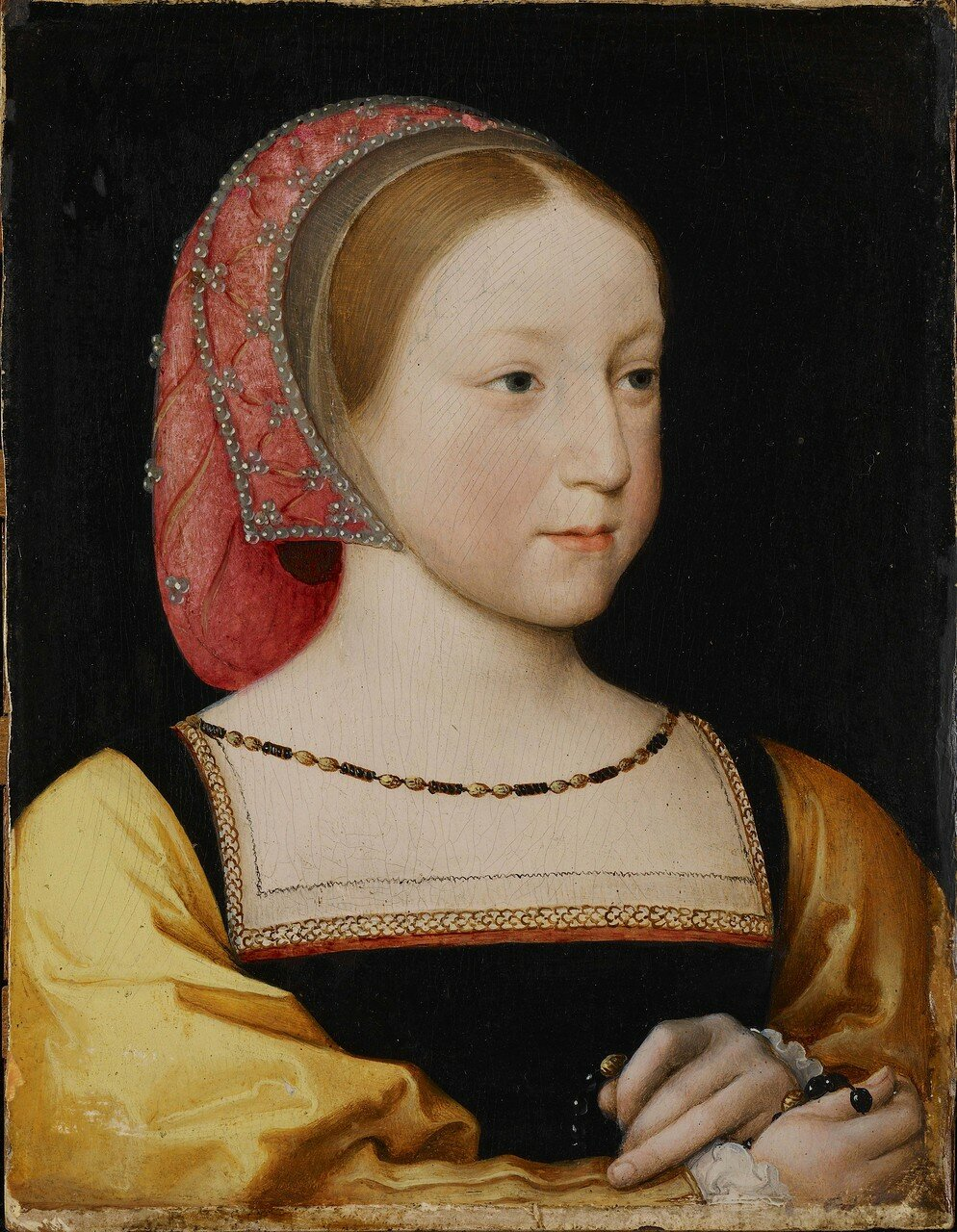 Jean Clouet the Younger; Portrait of Charlotte of France; c. 1522