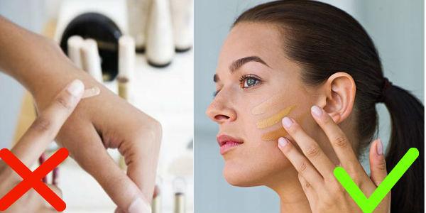 5 ошибок при нанесении тонального средства, которые портят макияж (6 фото)