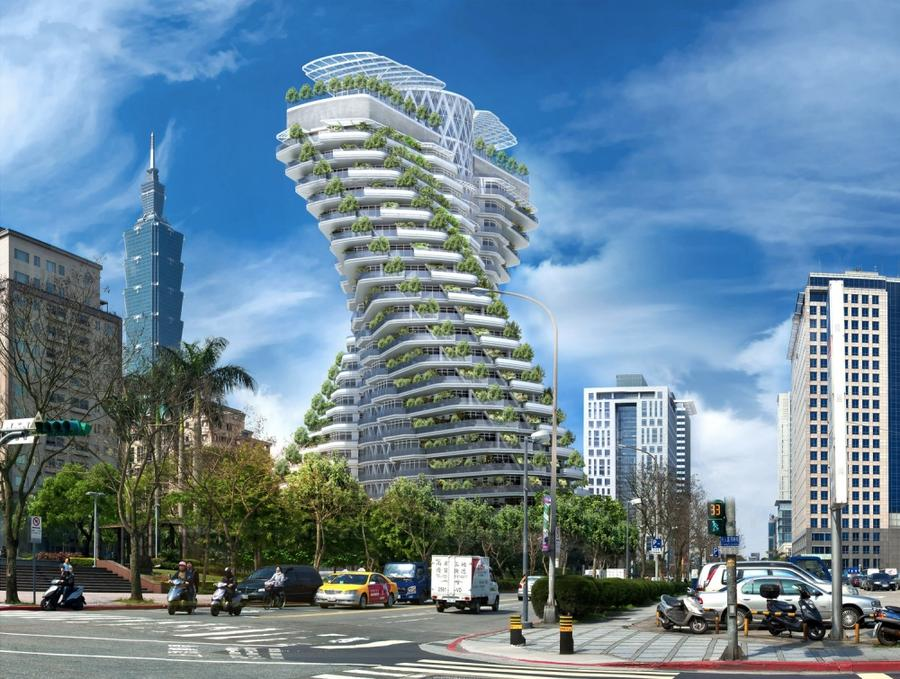 4. Agora Garden Строительство этого здания, которое должно стать компромиссом между творениями матер
