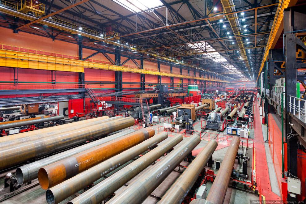 Склад готовой продукции, ожидающей отгрузку в железнодорожные вагоны: