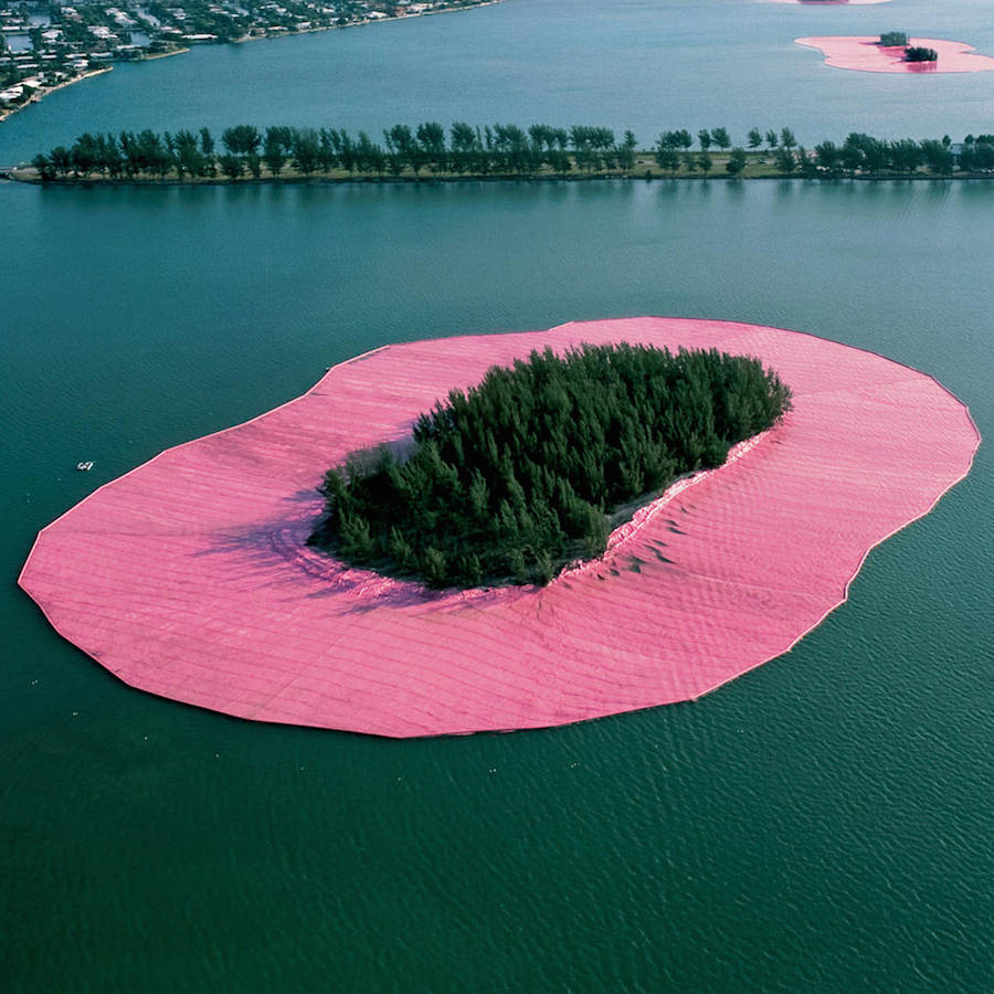 Sublime Pink Islands Installation in Miami