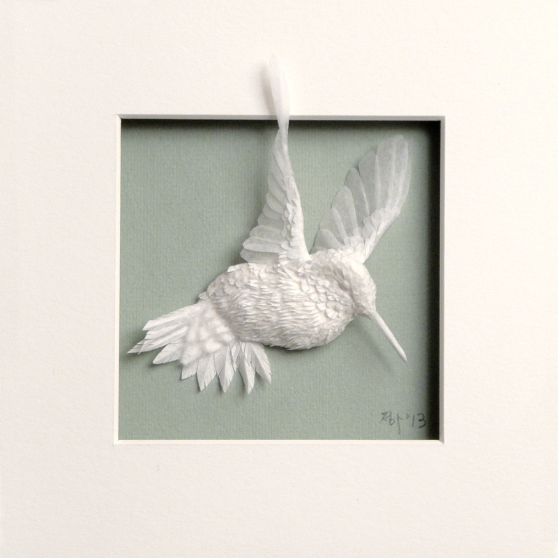 New Paper Hummingbirds by Cheong-ah Hwang