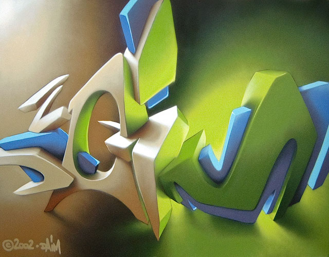 Awesome Graffiti on Canvas by Daim (16 pics)