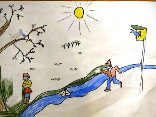 Весна - Фурник Кирилл Леонидович, 7 лет, Тема -- Рисунок, г. Волгоград.jpg