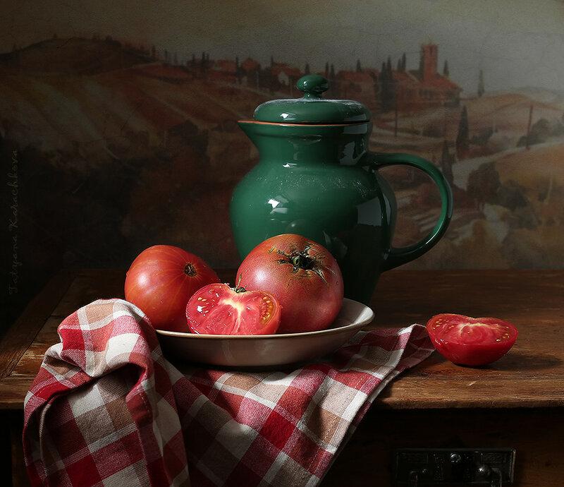 Помидоры. Овощной натюрморт