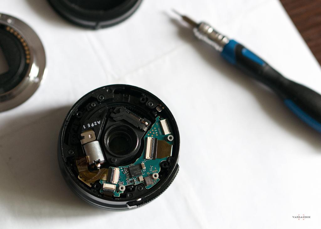 Ремонт объектива Sony SEL-P1650