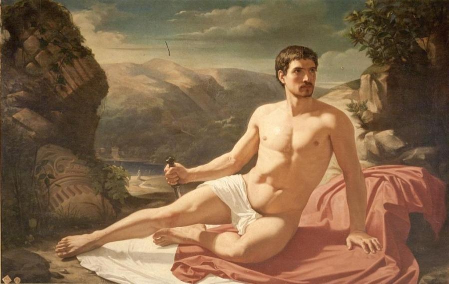 Homme tenant une dague (1850)..jpg